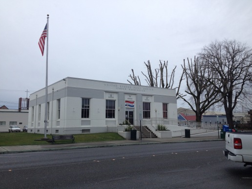 The local post office.