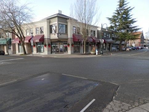 Street view of Ladner Village.