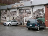 A mural beside the museum