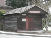 The first log cabin built in the area and restored here.