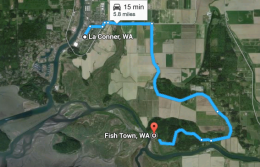 Travel from La Conner to Fish Town