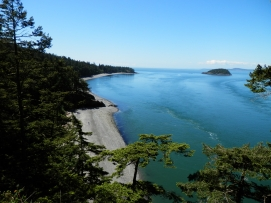 View of Deception Pass from bridge.