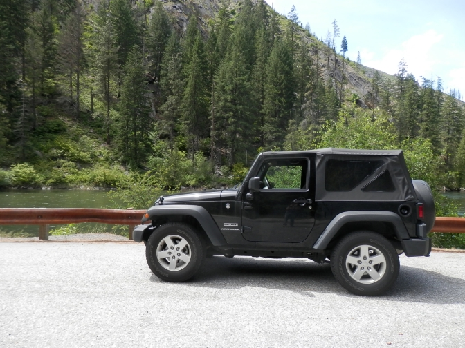 James in His Jeep Getting Java–Camping, Leavenworth, and Grinfinn! Part One